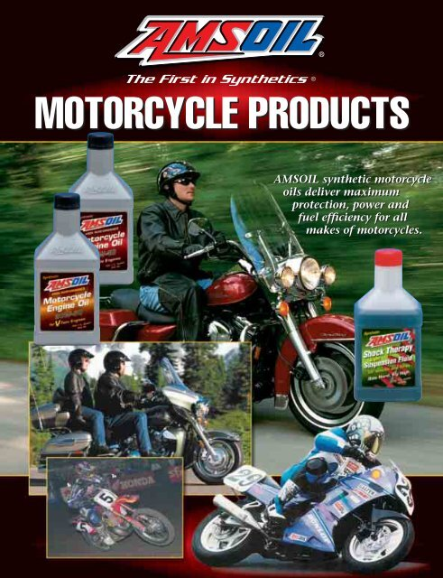 Motorcycle Products Brochure G 391 Amsoil Synthetic Motor Oil