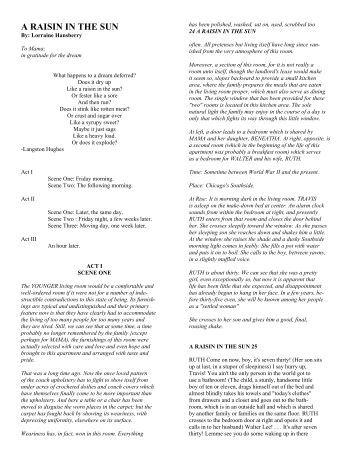raisin in the sun book pdf