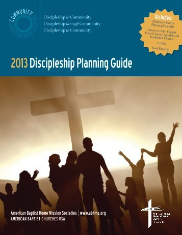 2013 Discipleship Planning Guide - American Baptist Home Mission ...