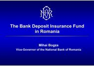 The Bank Deposit Insurance Fund in Romania - World Bank