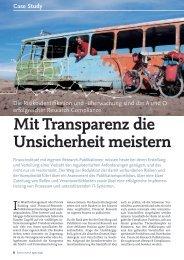 Mit Transparenz die Unsicherheit meistern - solutionproviders