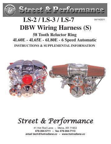 ls 1 wiring harness street performance street performance ls 2 ls 3 ls 7 dbw wiring