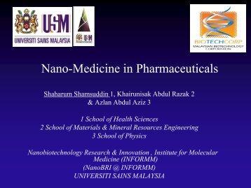Nano Medicines in Pharmaceuticals - BPFK