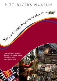 Primary school brochure 2011-12 - Pitt Rivers Museum