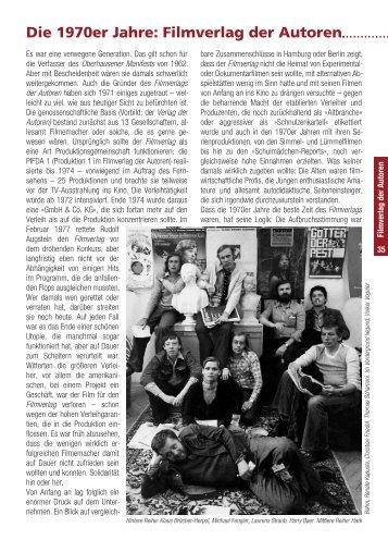 Die 1970er Jahre: Filmverlag der Autoren - Münchner Stadtmuseum