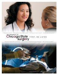 First, we listen - The Department of Surgery - University of Chicago