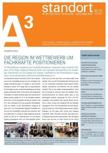 standort A³ 02/12 - im Wirtschaftsraum Augsburg.