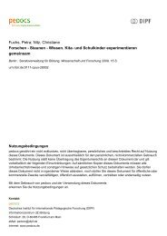 Fuchs, Petra; Nitz, Christiane Forschen - Staunen ... - peDOCS