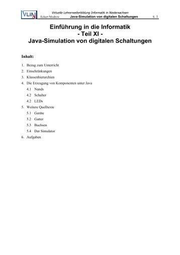 Java-Simulation von digitalen Schaltungen - VLiN