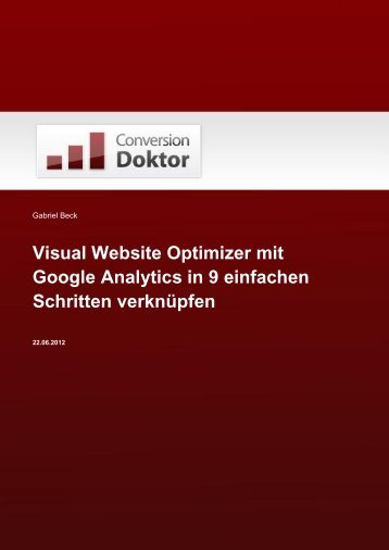 Visual Website Optimizer mit Google Analytics in 9 einfachen ...