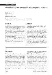 El tromboembolismo venoso en la práctica médica y quirúrgica
