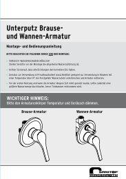 Unterputz Brause- und Wannen-Armatur - sanitop wingenroth
