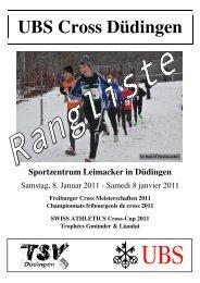 Rangliste - TSV Düdingen