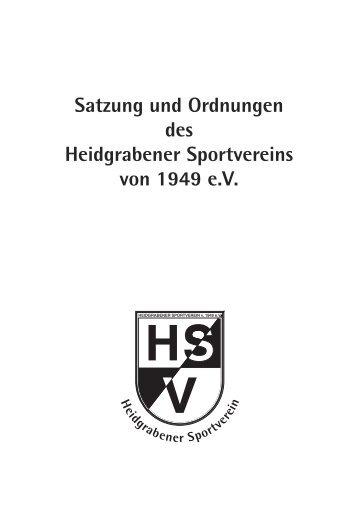 Satzung - Heidgrabener Sportverein von 1949 e.V.