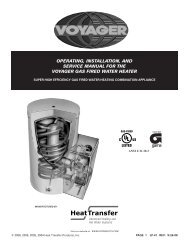 Operating, installation, and service manual for the voyager
