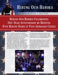 Hiring Our Heroes Celebrates One-Year Anniversary by Hosting ...