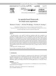 An agenda-based framework for multi-issue negotiation