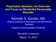 Paradigm 2 - Borderline Personality Disorder