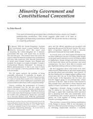 Minority Government and Constitutional Convention