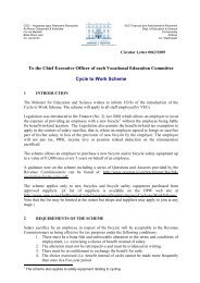 VEC Cycle to Work Scheme - Department of Education and Skills