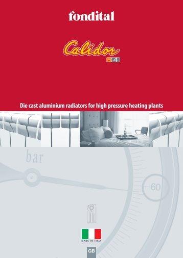Die cast aluminium radiators for high pressure heating plants - TDM