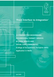 From Interface to Integration - College of Occupational Therapists