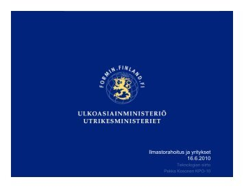Ilmastorahoitus ja yritykset 16.6.2010