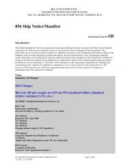 856 Ship Notice/Manifest - Big Lots