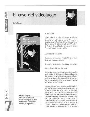 Guía El caso del videojuego - Alfaguara Juvenil