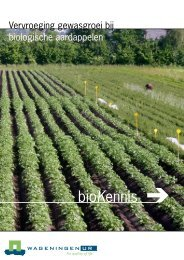 Vervroeging gewasgroei bij biologische aardappelen - Webkey
