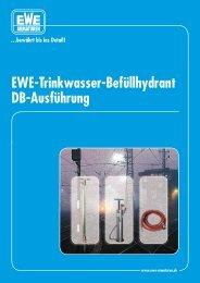 EWE-Trinkwasser-Befüllhydrant DB-Ausführung - EWE-Armaturen