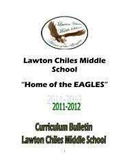 Curriculum Bulletin - Lawton Chiles Middle School - Miami-Dade ...
