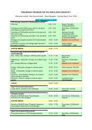 Preliminary Program version 06 - CO2Geonet