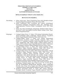 peraturan bupati gunungkidul nomor 71 tahun 2011 tentang