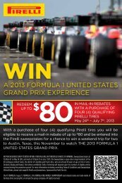 With a purchase of four (4) qualifying Pirelli tires you will be ... - Mopar