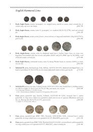 English Hammered Coins - St James's Auctions