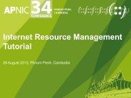 Tutorial Slides - APNIC Conferences