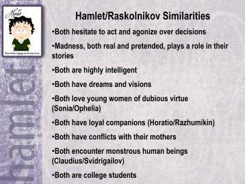 Hamlet/Raskolnikov Similarities