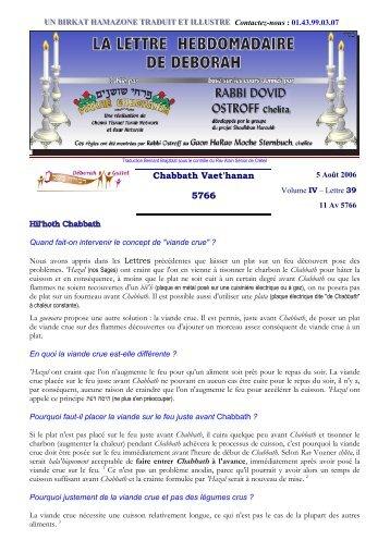 Volume IV - lettre n°39 - Association Deborah Guitel