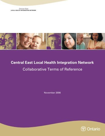 Central East Local Health Integration Network Collaborative Terms ...