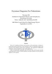 Feynman Diagrams For Pedestrians - Herbstschule Maria Laach