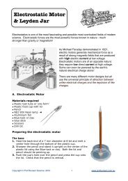 Electrostatic Motor - Prof Bunsen