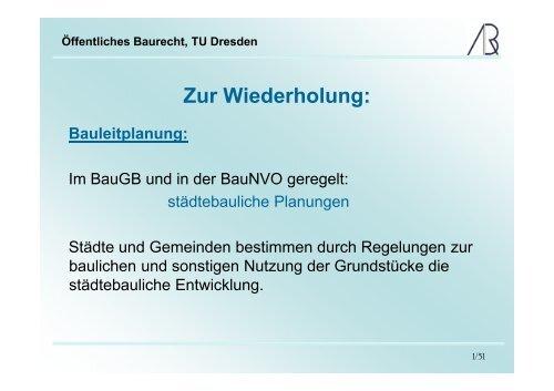 Öffentliches Baurecht, TU Dresden - Prof-rauch-tu-dresden.de
