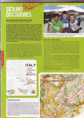 Mediterranean 0pen Championships 2006 - Orienteering