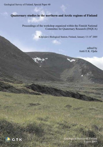 Quaternary studies in the northern and Arctic regions ... - Arkisto.gsf.fi