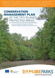 CONSERVATION MANAGEMENT PLAN of the ... - DANUBEPARKS