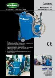 Prospekt Flüssigkeits- und Spänesauger FS-216