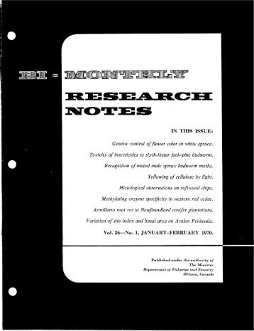 Bi-Monthly Research Notes: Vol 26, No 1-6 - NFIS