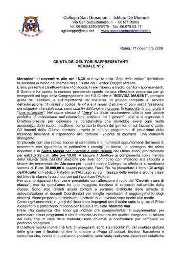 Verbale N 2 Giunta novemb.pdf - Collegio San Giuseppe - Istituto ...