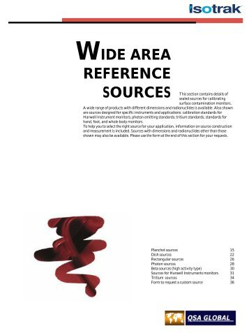 WIDE AREA REFERENCE SOURCES - High Technology Sources Ltd